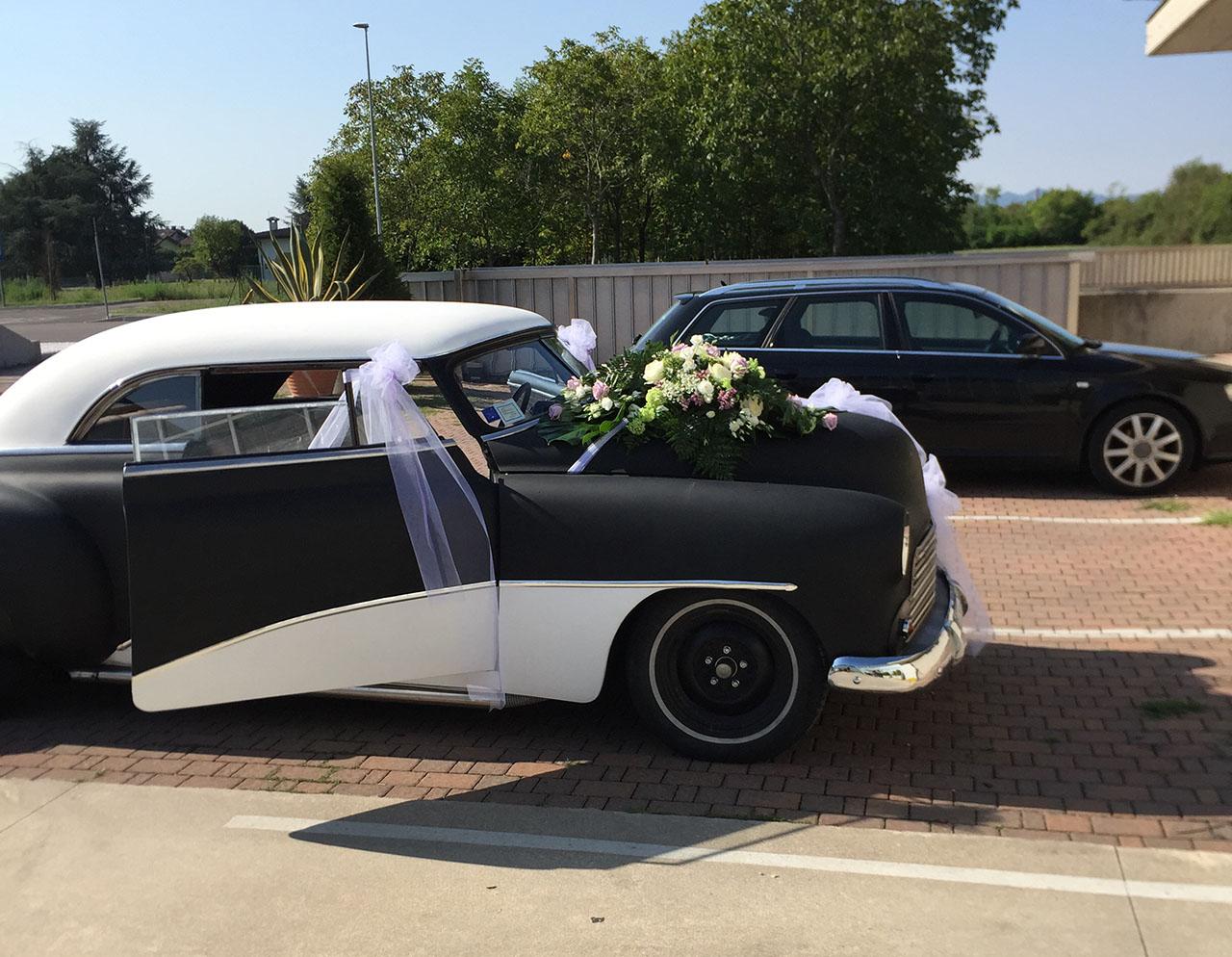 decorazione floreale auto per matrimoni a Thiene, Vicenza, Centrale di Zugliano, Schio
